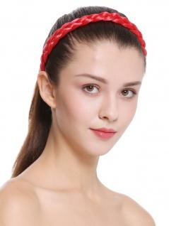 Haarband Haarreif geflochten Tracht traditionell Knallrot braid CXT-006-617