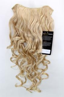 Clip-in Haarteil mit 7 Klammern, 3/4 Perücke, blond, Länge: ca. 50 cm, H9503-202