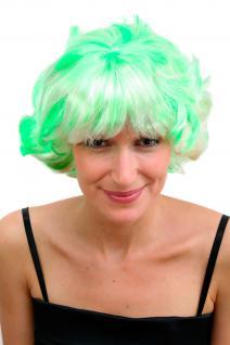 Perücke Fasching KNALLIG Neon grün blond platin Bunt KESS & Frech kurz lm-475