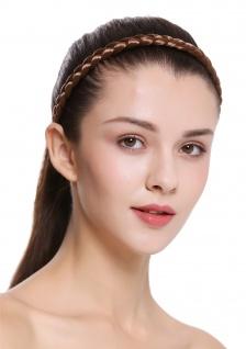 Haarband Haarreif geflochten Tracht traditionell goldbraun braid CXT-008-230