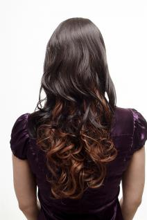 Sexy Perücke Damenperücke Ombre Hair Braun Rotbraun Mischung lang gewellt SA070 - Vorschau 4