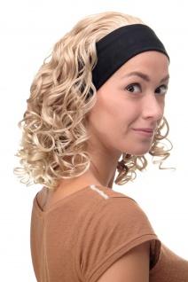 Damenperücke Perücke Stirnband voluminös Locken Blond Blond-Mix BRO-704-27T613 - Vorschau 3