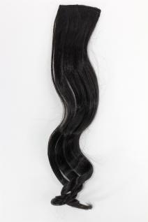 2 Clips Extension Strähne wellig Schwarz YZF-P2C18-2 45cm Haarverlängerung