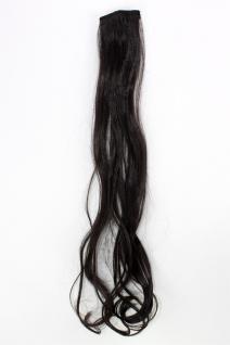 2 Clips Extension Strähne wellig Dunkelbraun YZF-P2C25-4 65cm Haarverlängerung