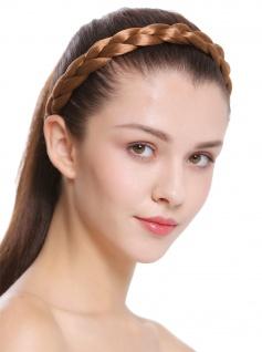 Haarband Haarreif geflochten Tracht traditionell dunkelblond braid CXT-007-341