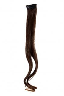 1 CLIP Strähne wellig Dunkel-Rot-Braun YZF-P1C18-2T30 45cm Haarverlängerung