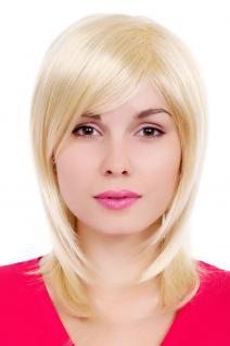 Perücke, Wig, Scheitel, gestuft, blond, glatt, Länge: ca. 50 cm, GFW349A-613E