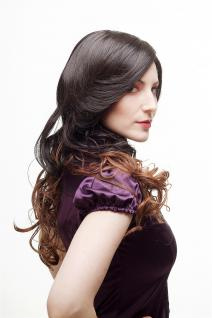 Sexy Perücke Damenperücke Ombre Hair Braun Rotbraun Mischung lang gewellt SA070 - Vorschau 2