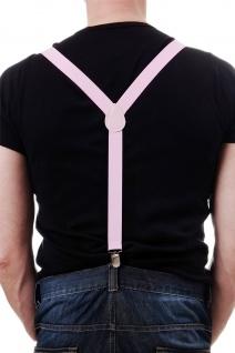 DRESS ME UP - Halloween Karneval Hosenträger Suspenders Pink W-068P-pink - Vorschau 2
