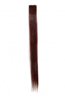 1 CLIP Strähne glatt Dunkel-Mahagoni-Braun YZF-P1S18-33 45cm Haarverlängerung