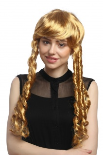Perücke Damen Karneval Fasching Blond kurz Spirallocken Rastalocken 3063