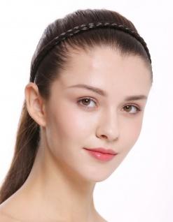 Haarband Haarreif geflochten Tracht traditionell dunkelbraun braid CXT-009-003