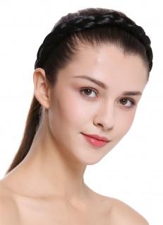 Haarband Haarreif geflochten Tracht traditionell tiefschwarz braid CXT-007-001