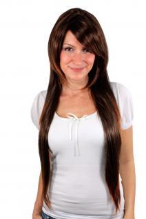 Perücke Wig Braun-Mix stark gestuft helle Spitzen HB590-2T30 70cm lang und glatt