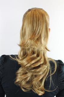 Haarteil Zopf Blond, Dunkelblond ca. 45cm gewellt Butterfly-Clip JL-0067-18-25 - Vorschau 1