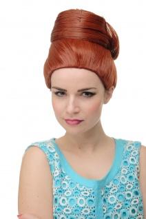 Perücke Damenperücke Beehive Dutt Rot turban Vintage retro 50er 60er GFW2200-350