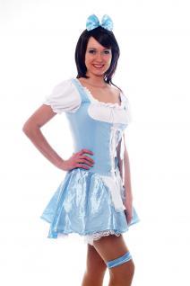 Damenkostüm: Hellblaues Dirndl Zofe Maid Zimmermädchen Dienstmagd Haarreif L009 - Vorschau 3