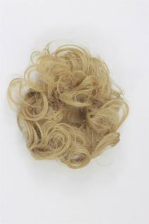 Haarteil: Kunsthaar Scrunchy Haarband Haargummi Pferdeschwanz Blond YZF-3054A-86