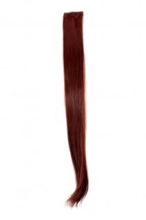 2 Clips Extension Strähne glatt Rot YZF-P2S25-35 65cm Haarverlängerung