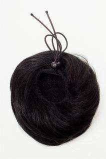 WIG ME UP Dutt Haarknoten Bun Haarteil 60er Jahre Vintage Look Schwarz NHA-004D - Vorschau 3