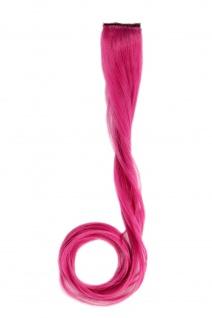 1 Clip Extension Strähne Haarverlängerung wellig Dunkelpink 45cm YZF-P1C18-T2127