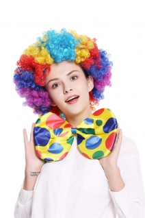 XXL Fliege Bowtie Binder riesig gelb bunt Punkte Clown Zirkus Karneval BB-042