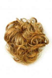 Haarteil Scrunchie Scrunchy Haarband Blond Dunkelblond gesträhnt PAOLA-18+26B