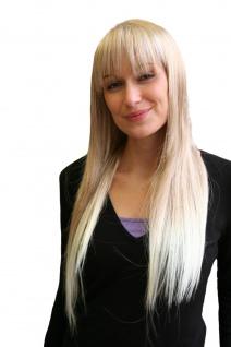 Damenperücke Perücke ENGEL & VAMP blond gesträhnt lang glatt Pony 9293-27T613