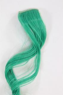 1 Clip Extension Strähne Haarverlängerung wellig Blaugrün 63cm YZF-P1C25-T2608