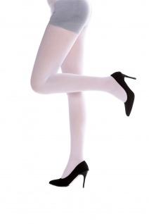 Strumpfhose Pantyhose Damenkostüm Karneval Halloween dehnbar weiß S/M WZ-012W