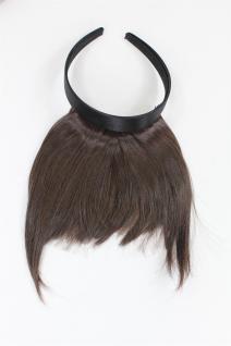 Clip-in Pony, Haarreif mit längerem Seitenhaar, natürl. Wirkung, Braun HA071T-6