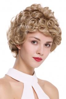 WIG ME UP Damen Perücke Monofilament handgeknüpft kurz gelockt Blond DW2308