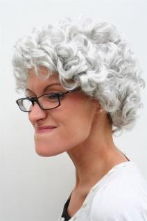 Perücke GRAU Locken Oma Omi Granny Alte Reife Dame Frau Großmutter wig PW0035 - Vorschau 2
