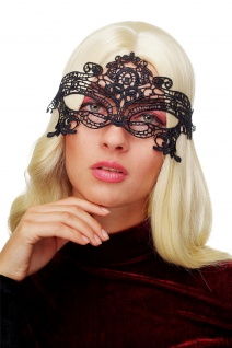 Karneval Maske Damenmaske Schwarze Spitze Halbmaske Maskenball Gothic LS-001
