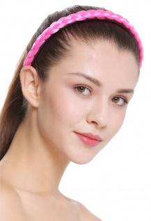 Haarband Haarreif geflochten Tracht traditionell rosa pink braid CXT-003-309