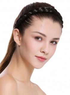 Haarband Haarreif geflochten traditionell breit dunkelbraun braid CXT-005-003