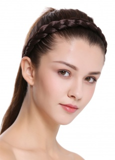 Haarband Haarreif geflochten traditionell sehr breit braun braid CXT-005-006