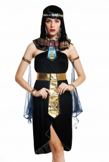 Kostüm Damen Frauen Karneval Ägypterin Kleopatra Cleopatra Pharaonin M/L W-0264 - Vorschau 3