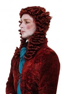 Fasching Perücke Adliger Barock Renaissance Casanova Prinz Rot WIG013-P350