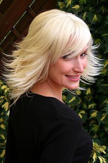 Perücke steile Strähnen blond 8019-613