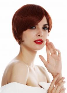 Perücke Damen Frauen Monofilament handgeknüpft kurz glatt Kupfer rot Perrücke