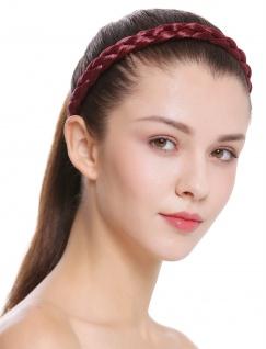 Haarband Haarreif geflochten Tracht traditionell granatrot braid CXT-006-120