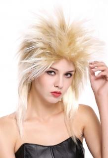 Perücke Damen Herren Karneval 80er Wave Punk Popstar Blond Mix Toupiert