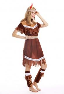 Kostüm Damen Frauen Damenkostüm Karneval lang Indianerin Gr. M W-0211 - Vorschau 3