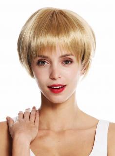 WIG ME UP Perücke Damenperücke kurz glatt Page Pagenschnitt Blond Goldblond