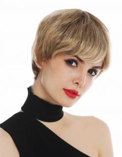 Perücke Damenperücke Frauen kurz Pixie Cut glatt Braun Kupfer Blond gesträhnt
