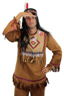 Kostüm Herren Herrenkostüm Indianer Häuptling Apache Sioux Cowboy L030 - Vorschau 5