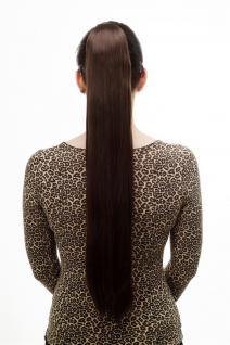 Haarteil/Zopf, sehr lang, glatt fallend, Butterfly-Klammer, 70 cm, Braun, T113-6
