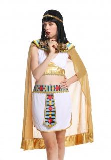 Kostüm Damen Frauen Karneval Ägypterin Kleopatra Cleopatra Pharaonin weiß M - Vorschau 3