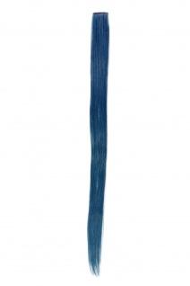 1 Clip Extension Strähne Haarverlängerung glatt Kobaltblau 63cm YZF-P1S25-T2913